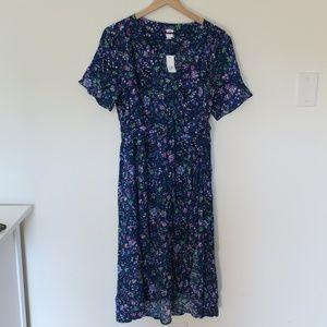 NWT Gap Maternity Floral Print Faux-Wrap Dress
